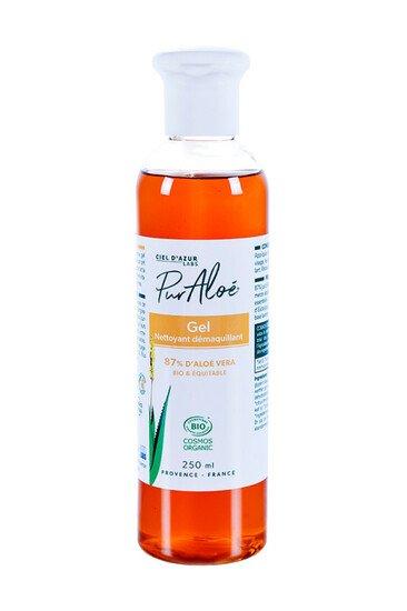 Gel nettoyant démaquillant Bio - 87% Aloé Vera - Pur Aloé