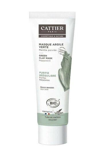 Masque Bio Argile Verte - Peau Grasse - Cattier
