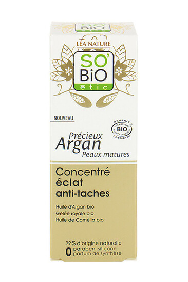 Soin Concentré Eclat Anti-Taches Bio - SO'BiO étic