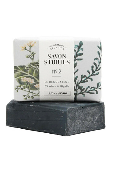 Savon n°2 Régulateur - Charbon & Nigelle - Savon Stories