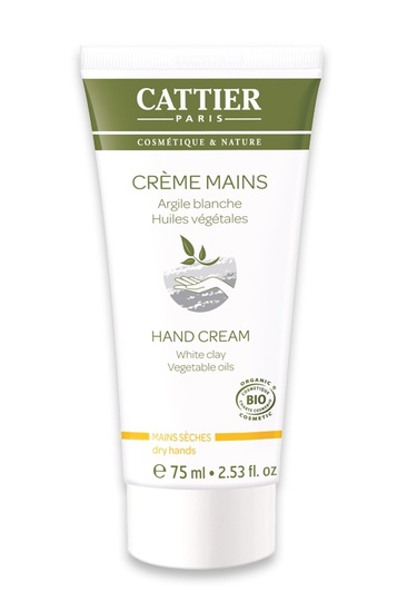 Crème Bio Mains Sèches et Abîmées Argile Blanche Cattier