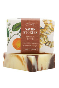 Savon Edition Hiver Réconfortant - Cannelle & Orange - Savon Stories