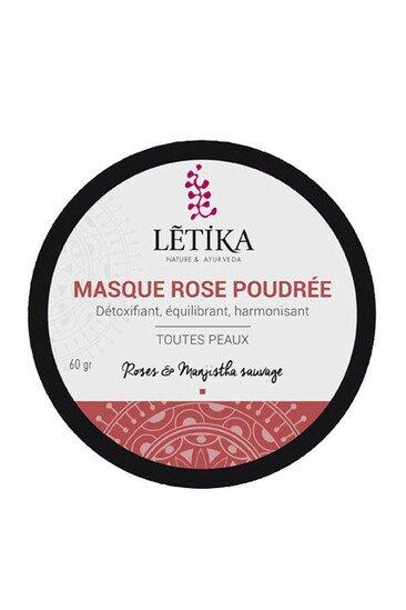 Masque Rose Poudrée Vegan - Létika