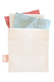 Pochette avec 3 Mouchoirs en Tissu - Kufu