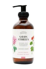 Savon Liquide Bio - Bouquet de Rose - Savon Stories