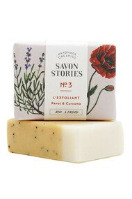 Savon n°3 Exfoliant - Graines de Pavot & Curcuma - Savon Stories